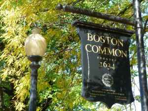 Boston Common, sign, tourists, guide
