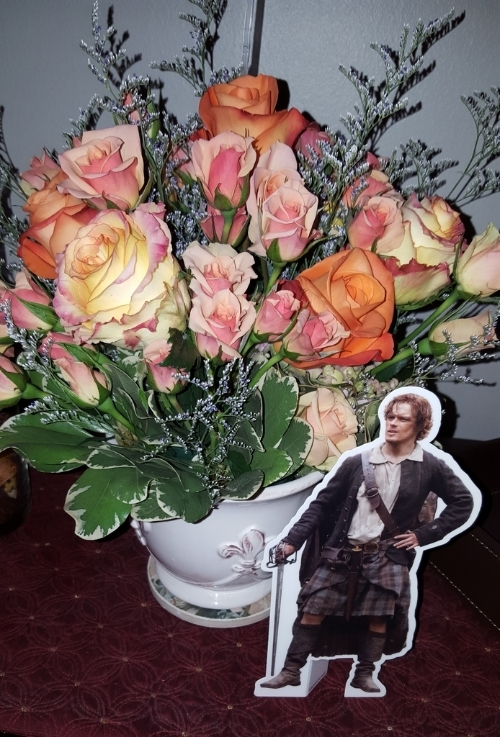 flowers, pocket jamie, gathering, Outlander