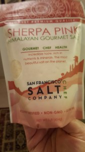 Himalayan Pink Salt, shopping, musing, S.A. Young