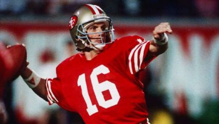 Joe Montana 4-0 and throwing over 1,100 yds in for SB appearances