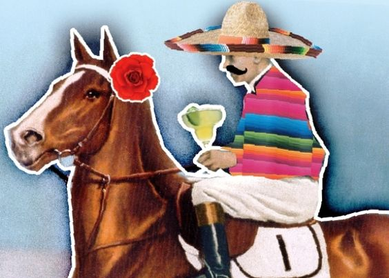 Kentucky Derby, Cinco de Mayo, illustration, horse racing, tequila, serape