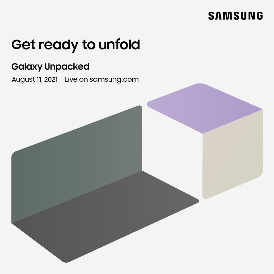 Samsung's volgende Galaxy Unpacked vindt online plaats op 11 augustus