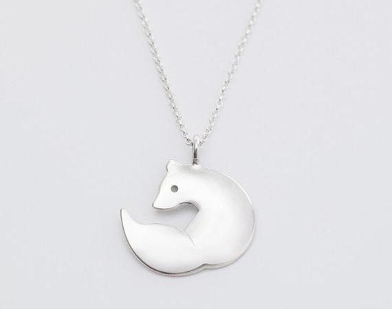 sterling zilveren sieraden vos hanger charme ketting voor vrouwen door BeehiveHandmadeLLC