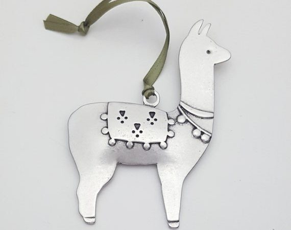 lama ornament door BeehiveHandmadeLLC