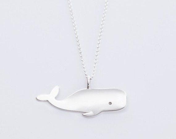 sterling zilveren sieraden walvis hanger charme ketting voor vrouwen door BeehiveHandmadeLLC