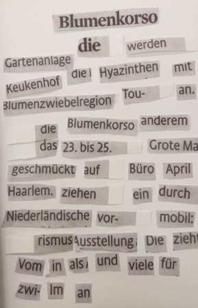Dadaistisches Gedicht