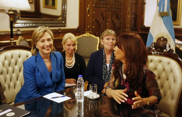 Happy Womens History Month Secretary Clinton Visits the Casa Rosada  Still4Hill