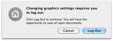 Log out to change your graphics settings