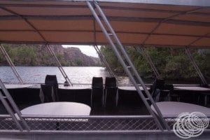 On board our first boat at Nitmiluk Katherine Gorge