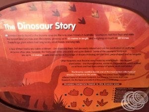 The dinosaur story at Gantheaume Point