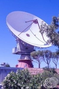 One of the huge satellite dishes at the Carnarvon Tracking Station