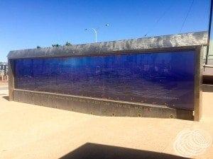 The HMAS Sydney wreckage mural.
