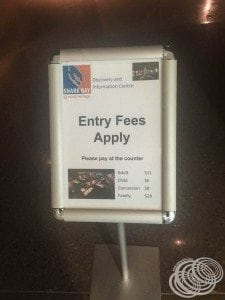 Entry fees for the paid section of the discovery centre
