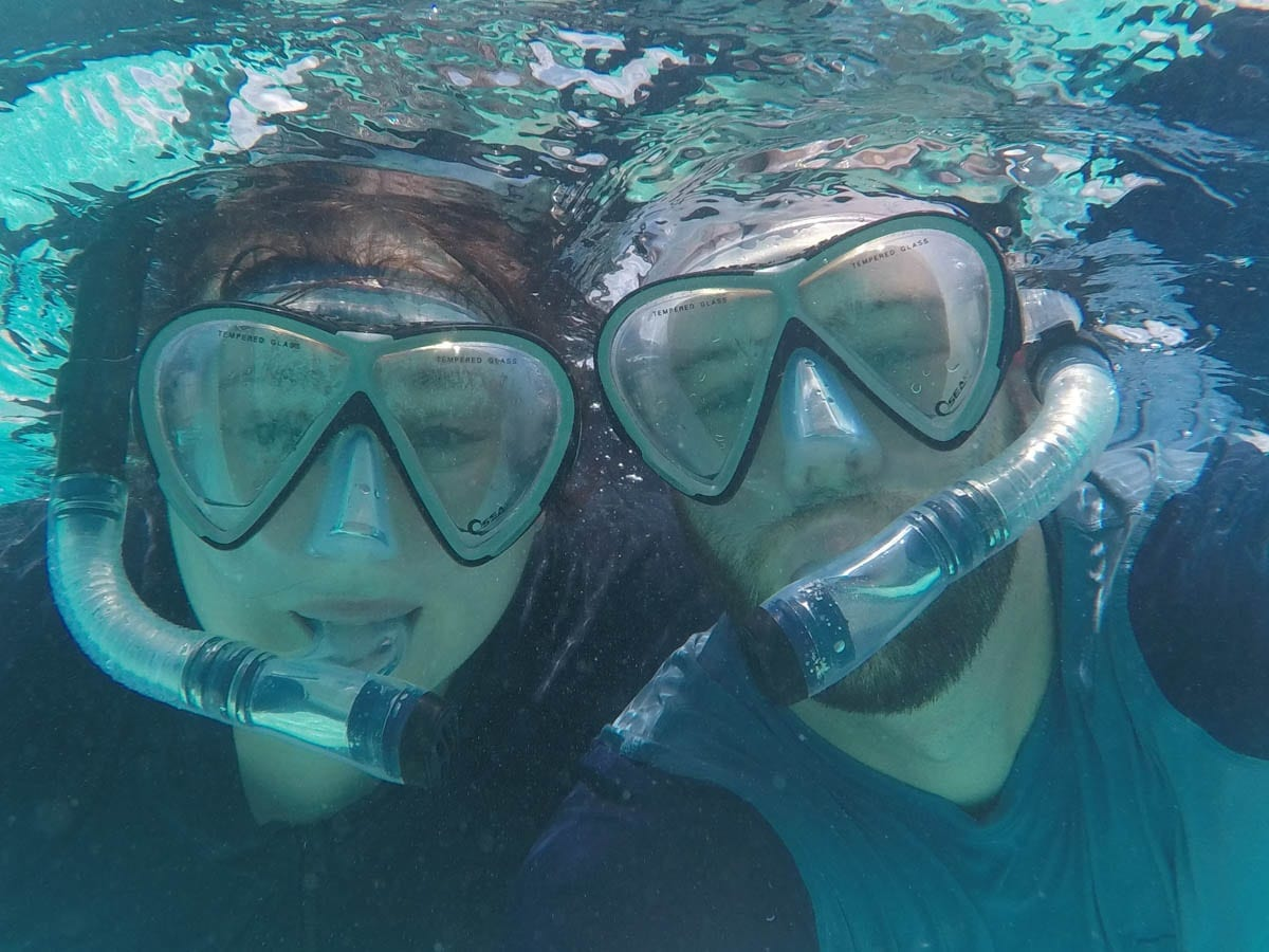 Snorkelling with Wifey