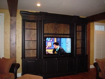 how to make an entertainment center
