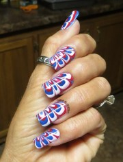 fourth of july manicures firework
