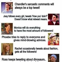 If FRIENDS Had Twitter Accounts