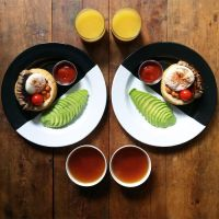 Check Out The Most Symmetrical Breakfasts Ever!
