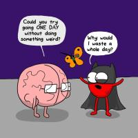 Constant Struggle Between the Heart and the Brain In This Hilarious Comic Series