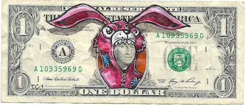 Defaced Dollar Bills