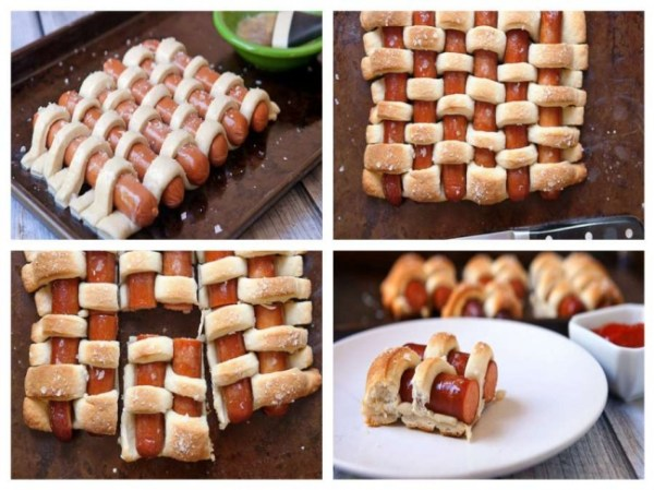 A more artistic version of the classic sausage roll.