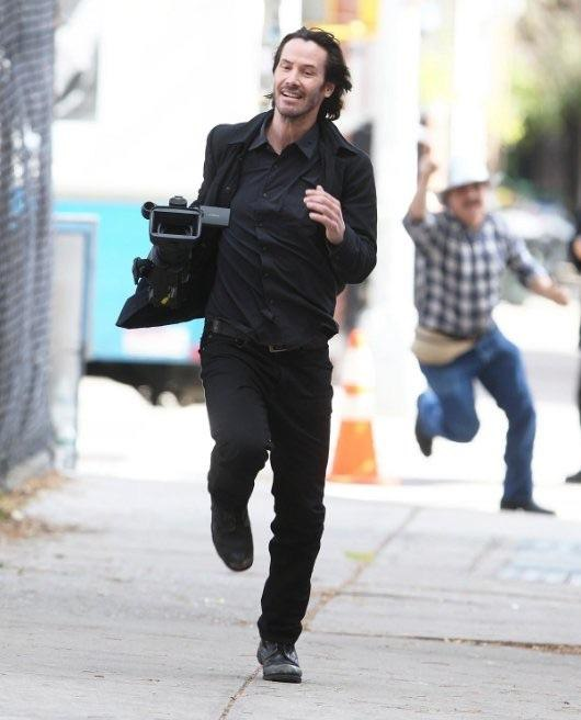 Keanu Reeves Stealing A Camera From Paparazzi