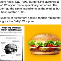 Burger King's April Fools Day Lefty Burger