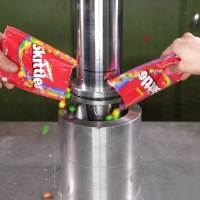 Making Donuts Out of Candy With a Hydraulic Press