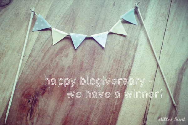 happy blogiversery GEWINNER