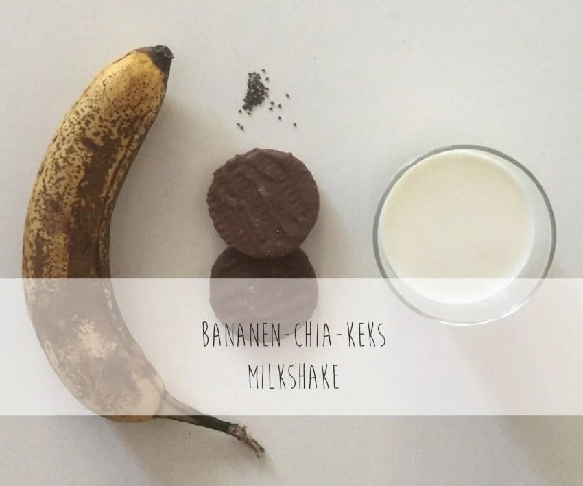 Bananen Chia Keks Milkshake