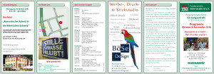 Begegnungsstelle Stille Straße 10: Programm Oktober & November