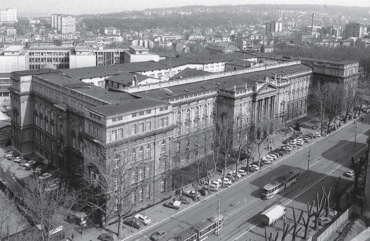Historic photograph of the building of the Faculty of Engineering (documentation of Cultural Heritage Preservation Institute)