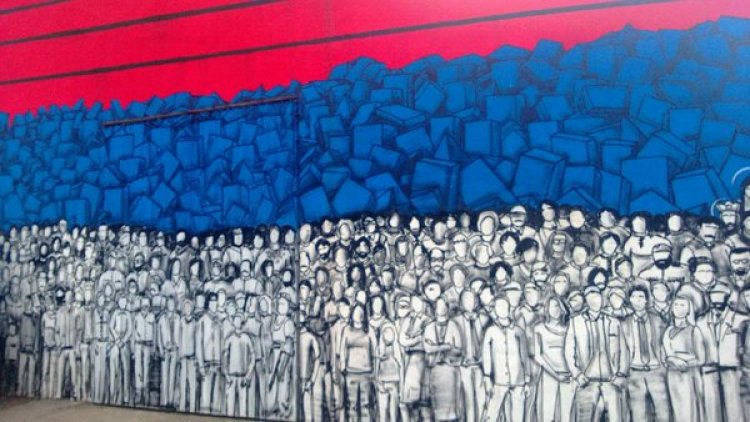 mural in savamala belgrade