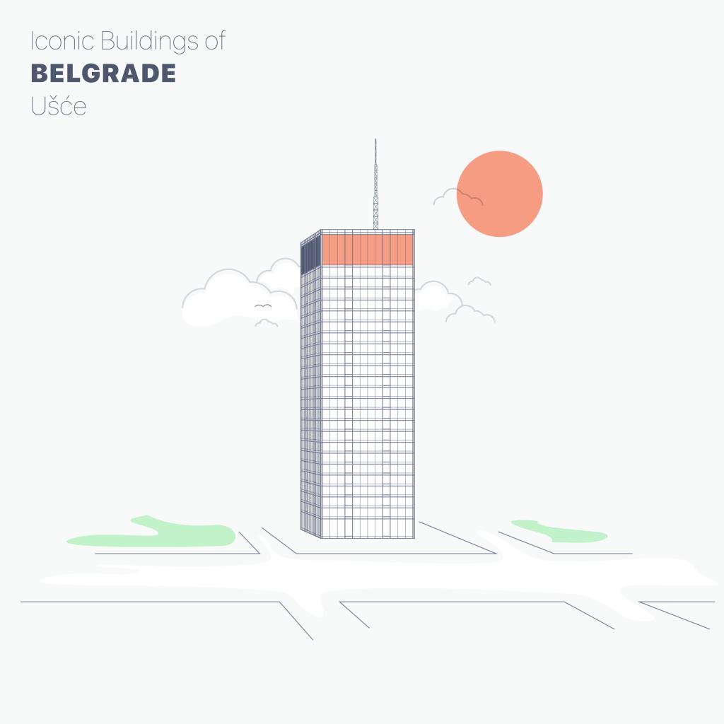 Usce building belgrade