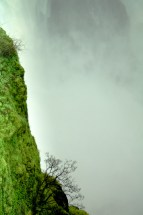 Often the falls themselves are lost in the thick, pounding mist of water.