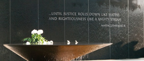 The memorial to those who died in the Civil Rights Movement at the Southern Poverty Law Center in Montgomery