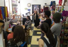A wonderful turnout of people for her readings