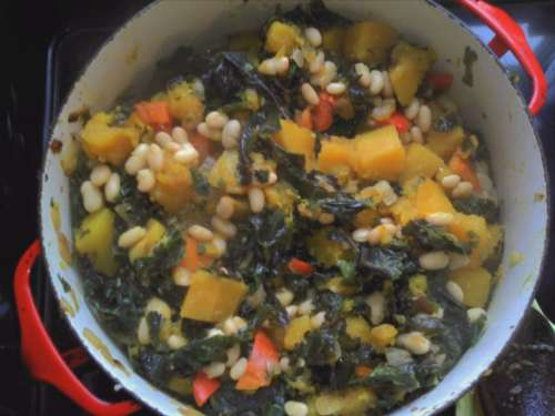 Butternut and kale stew