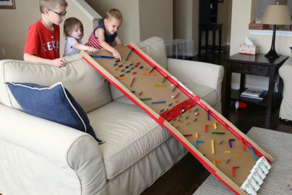 Craft Sticks: marble run