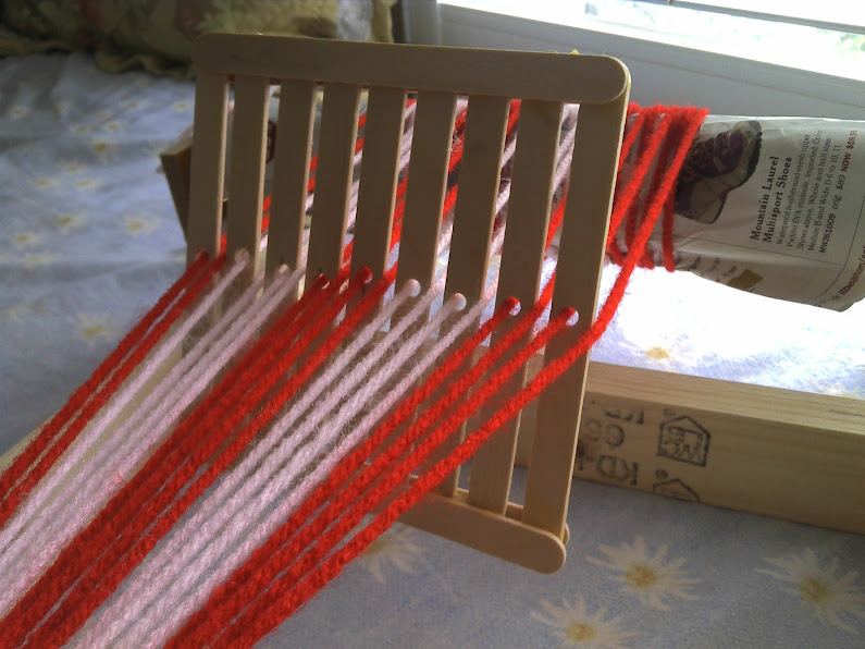Craft Sticks Weaving Loom