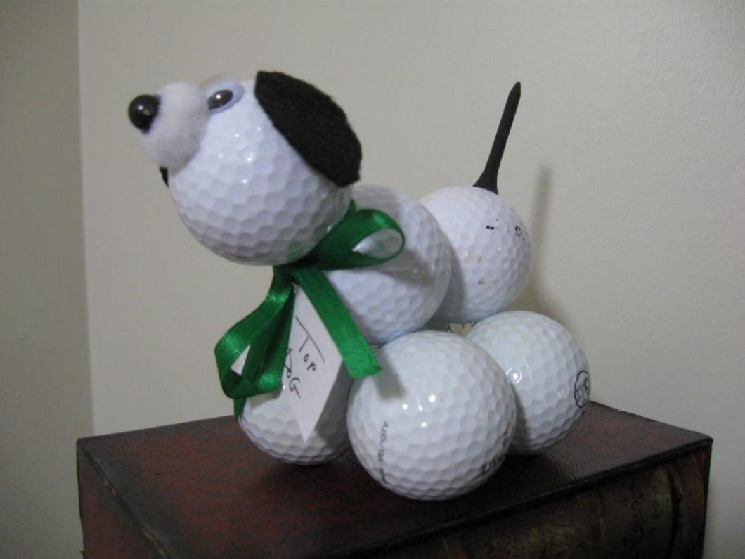 Crafts for boys: golf ball dog