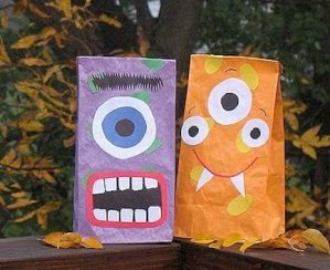 Crafts for boys: paper bag beasts