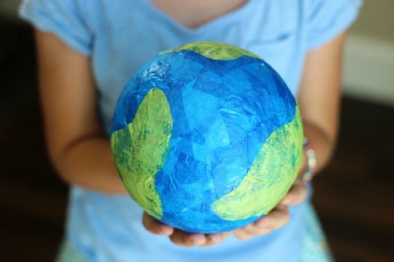 Tissue Paper Craft Globe
