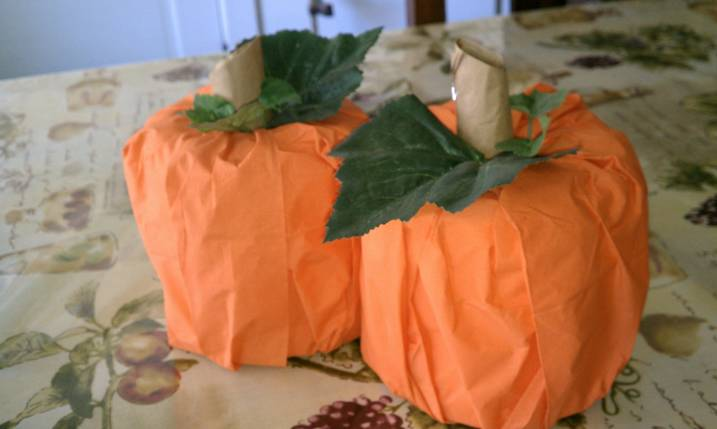 Crafts for Girls Toilet Paper Pumpkin