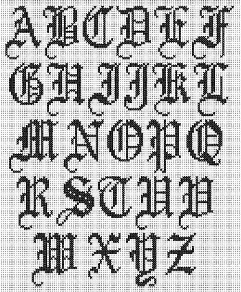Cross stitch alpabhet old english no more still old english cross stitch alphabet altavistaventures Choice Image