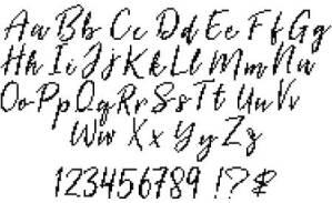 Cross Stitch Alphabet Cursive
