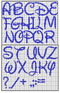 Cross Stitch Alphabet Disney