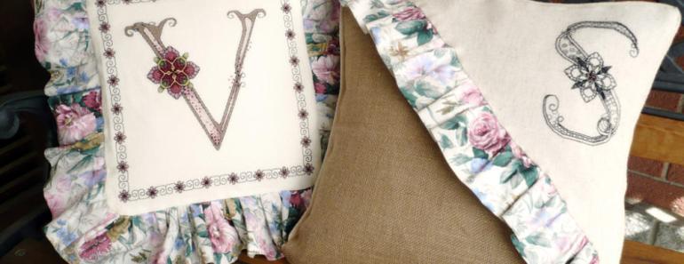 Cross Stitch Alphabet Flowery