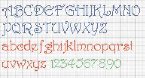 Cross Stitch Alphabet Harrington