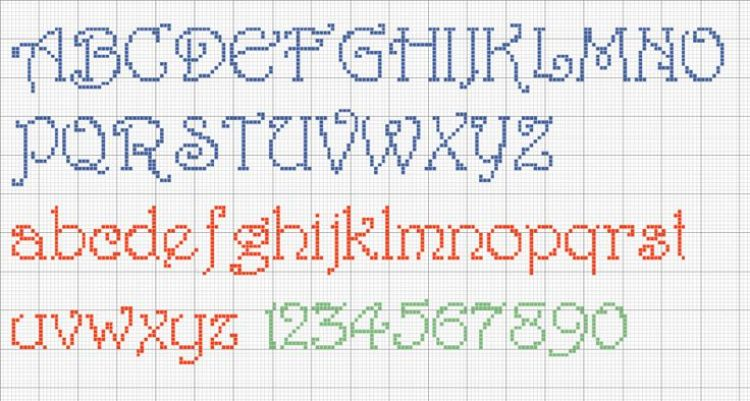 Cross Stitch Alphabet Harrington